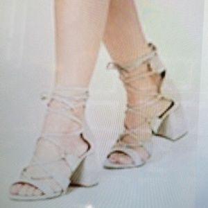 F21 Faux Suede Strappy Sandals